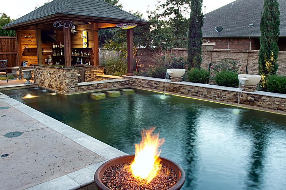 Wayfair Returns for Rustic Pool with Salt Concrete