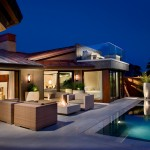 Weirs Furniture for Contemporary Pool with Outdoor Lighting in Austin