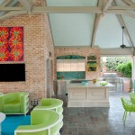 Weirs Furniture for Transitional Patio with Outdoor Kitchen