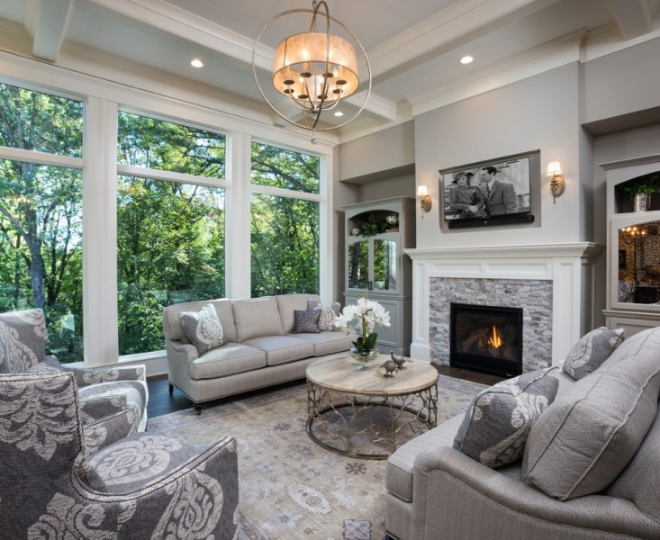Wesley Hall Furniture for Transitional Living Room with Wall Sconces
