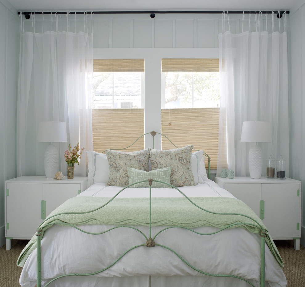 West Cobb Pine Straw for Shabby-Chic Style Bedroom with Mirror