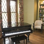 West Cobb Pine Straw for Traditional Living Room with Grand Piano