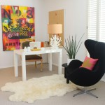 West Elm Santa Monica for Modern Home Office with White Pot