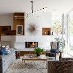 West Elm Santa Monica for Modern Living Room with Brass Coffee Table
