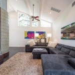 Westlake Residential for Contemporary Family Room with Sloped Ceiling