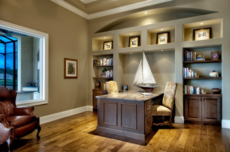 Williamsburgh Savings Bank for Traditional Home Office with Home Office