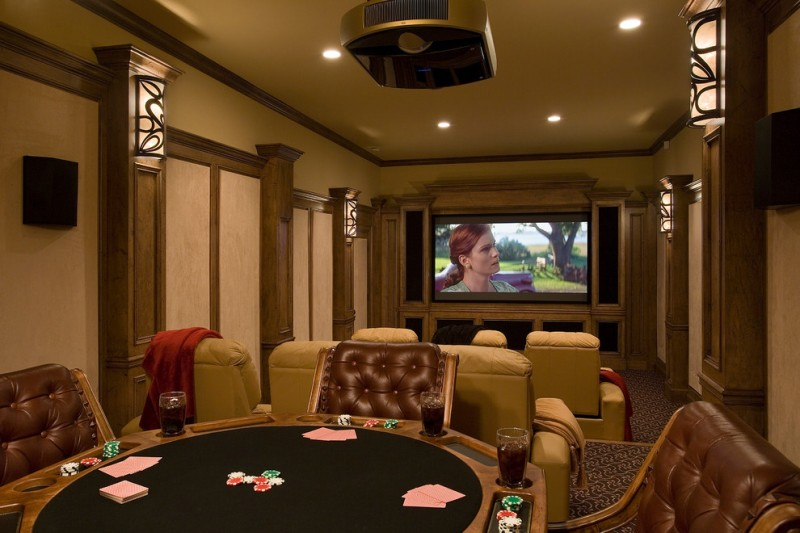 Willow Creek Theater for Rustic Home Theater with Elegant Rustic