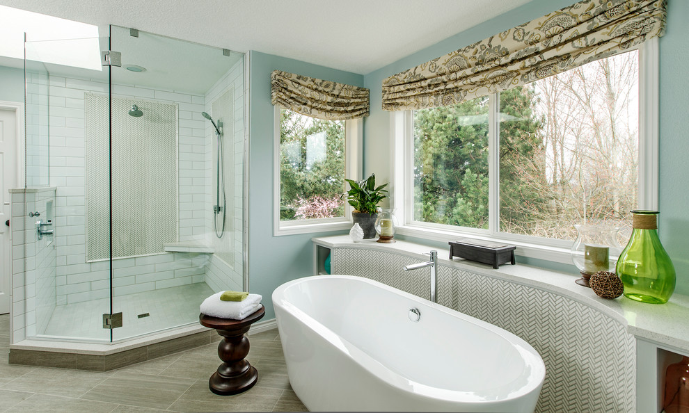 Windermere Portland for Traditional Bathroom with Window Treatments
