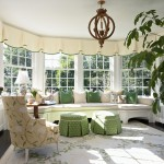 Window Depot Tucson for Traditional Sunroom with Upholstered Footstool