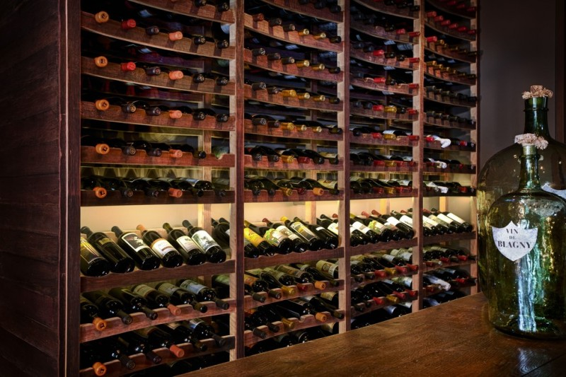Wine and Design Richmond Va for Traditional Dining Room with Wine Cellar