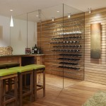 Wine Cellar Los Gatos for Contemporary Wine Cellar with Slatted Wood Wall