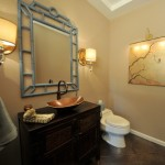 Wolf Gordon Wallcovering for Asian Powder Room with Asian