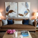 Wolf Gordon Wallcovering for Modern Living Room with Circa Lighting