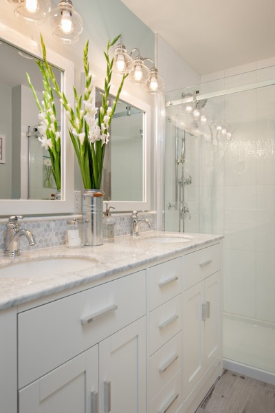 Wolfers Lighting for Traditional Bathroom with Gray