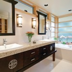 Woodworkers Hardware for Asian Bathroom with Hubbardton Forge