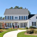 Wrap Around Porch House Plans for Farmhouse Exterior with Columns