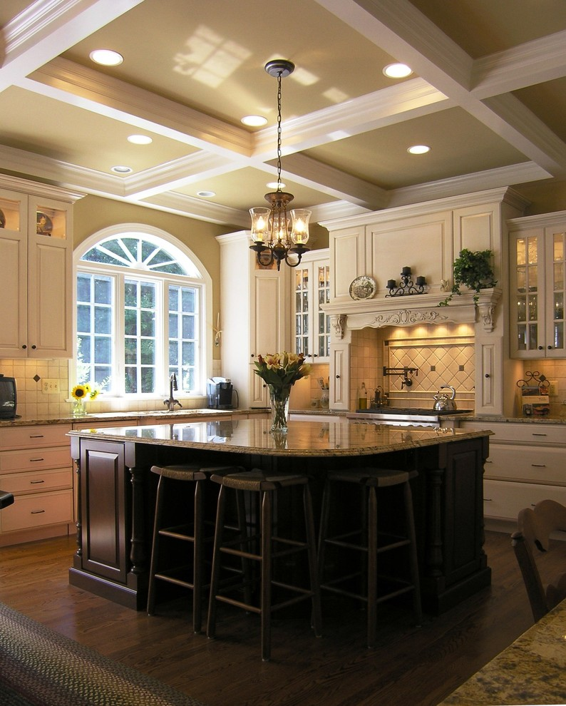 www.coasterfurniture.com for Traditional Kitchen with Breakfast Bar