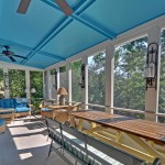 Ymca Town Lake for Traditional Porch with Blue Ceiling