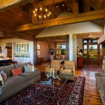 Yosemite Home Decor for Eclectic Living Room with Rustic Wood Ceiling Beams