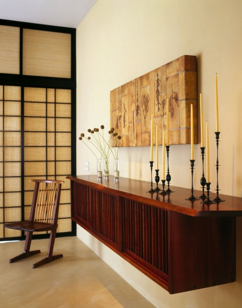 Youngs Furniture for Asian Entry with Candle
