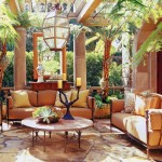 Youngs Furniture for Mediterranean Patio with Outdoor Light