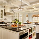 Zack White Leather for Traditional Kitchen with Glass Front Cabinet