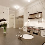 Zack White Leather for Traditional Kitchen with Pendant Lights