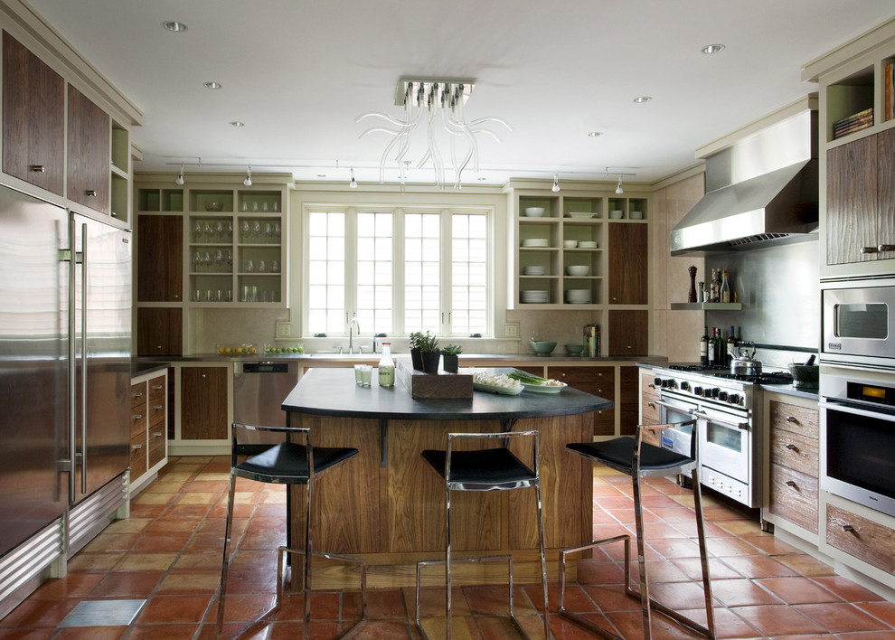 Zaneen Lighting for Rustic Kitchen with Drink Storage