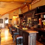 Zaza Hotel Dallas for Rustic Home Bar with Leather Barstools