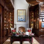 Zaza Hotel Dallas for Traditional Home Office with Tufted Leather Sofa