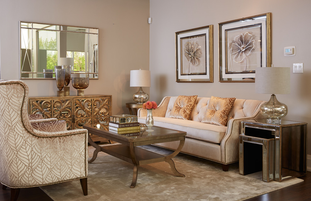 Zilli Furniture for Transitional Living Room with Mirror