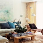 Zillow La Jolla for Contemporary Living Room with Blue Pillows